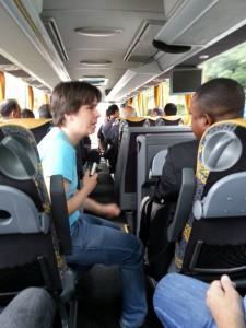 Auf der Fahrt zum Landtag 26.05.2015