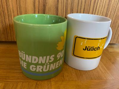 Tassen Bündnis 90 DIE GRÜNEN und Jülich