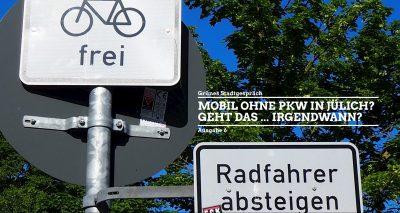 Rad fahren oder Rad schieben, das ist hier die Frage