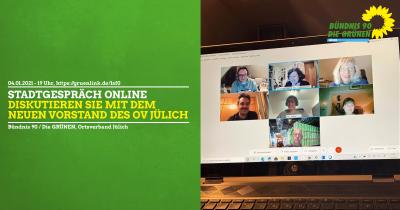 Grünes Stadtgespräch online am 4.1.21