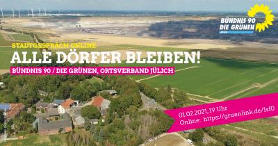 """Initiative """"Alle Dörfer bleiben"""" beim Grünen Stadtgespräch online"""